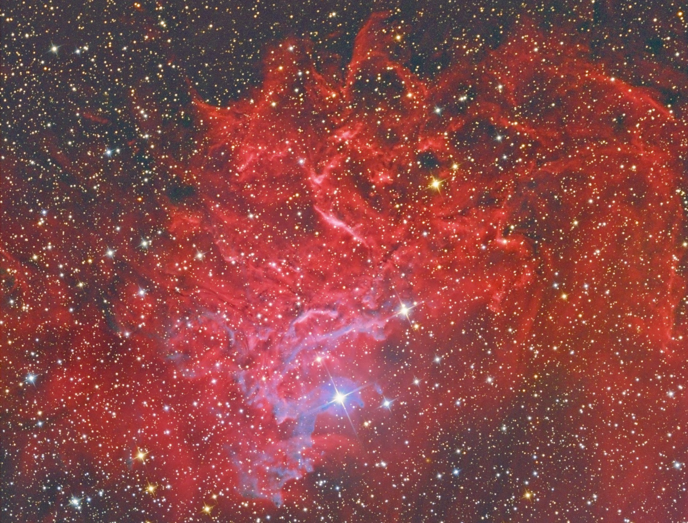 IC 405 Flaming Star Nebula