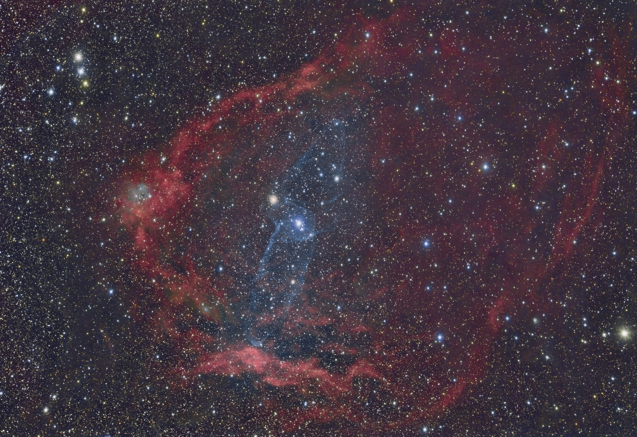 SH2-129 Flying Bat Nebula and Ou4 Squid Nebula