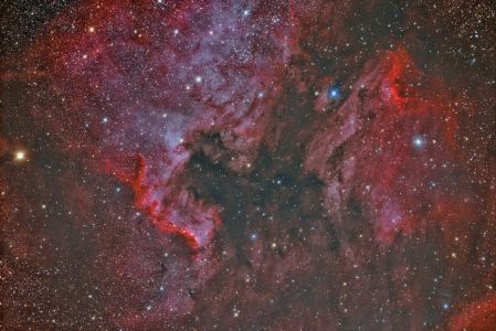 NGC 7000 North America Nebula and IC 5070 Pelican Nebula